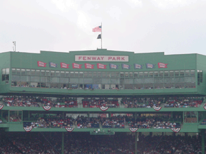 New facade of Fenway - 4.15.2006