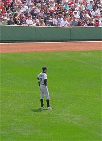 Ichiro in right at Fenway 4.15.2006