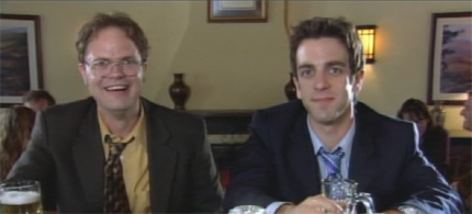 Dwight and Ryan from The Office: Initiation